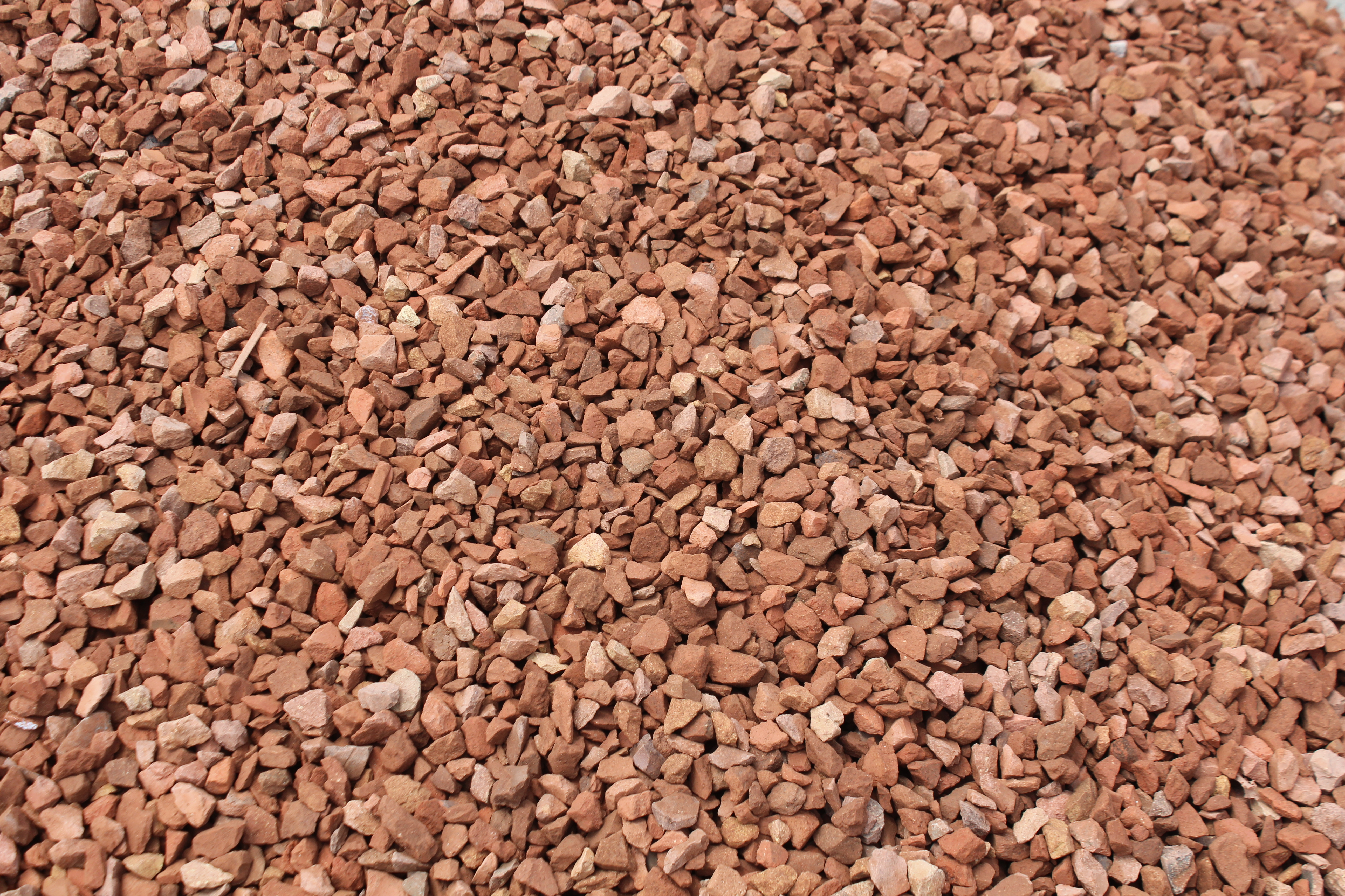 Red Crushed Granite Stone : Aggregates decorative stones trails end landscape supplies